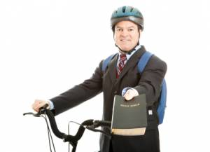 Mormon holding Bible