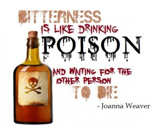 bottle with bitterness quote